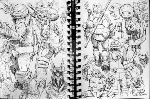 Sketches 59 and 60 of 102 Pages by EnricoManiago