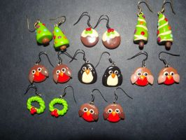 Fimo Earrings 3 by MeticulousBlue