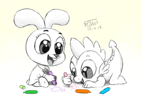 Anais and Spike by DrJavi