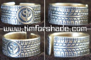 Brotherhood of steel Fallout ring adjustable size by TimforShade