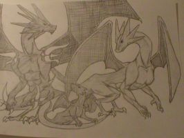 Dragon family by brandedfangirl