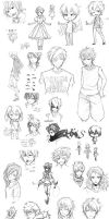Enormous Sketch Dump by Kime-baka-onee-chan