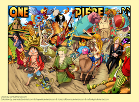 One Piece Colorspread Chapter 604 - COLLAB by HorizonOfDreams