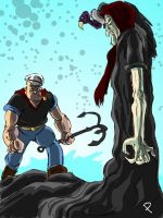 Popeye vs. The Sea Hag by jaypiscopo