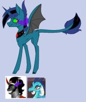 Mlp: Sombra x Ember for XimerEnergy by BlackTempestBrony