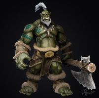 Ork Barbarian by yalgar