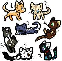 Kitties Adoption .:OPEN:. by CynderDragonArtist
