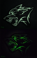 FOR SALE: GLOWING Feral dog patch by goiku