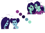 Color Palettes: Sisters by RAYNBOWZNSTUFF