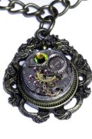 Steampunk Dragon Pendant by CatherinetteRings