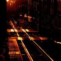 Train Crossing in Sunset by Arcius-Azrael