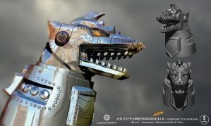 zMechagodzilla new Render by dopepope
