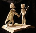 Skywalker vs Vader Book Sculpture by wetcanvas