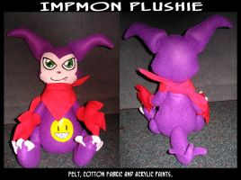 Impmon Plushie by KeyshaKitty