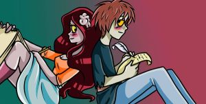 Raymone and Schany by Freaky--Panda