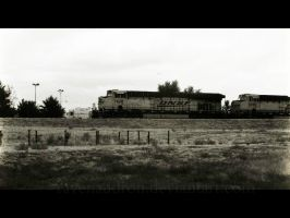 Old Train A' Comin'. by ravenaudron