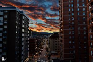 Bilbao, sunset from home by Mugnoos