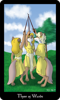Vulpine Tarot - Three of Wands by Mabon-Tail