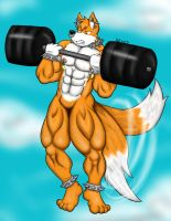 Commission: Spiky Tails Extreme Workout by CaseyLJones