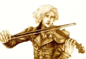 Playing a song of France by ColonelDespard
