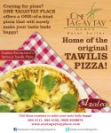 Flyer to promote Tawilis Pizza by SaintMyk