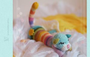 Rainbow cat I by Keila-raven