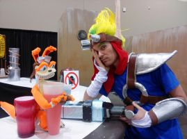 Jak and Daxter drunk cosplay Phoenix Comicon 2013 by Abydell