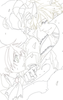 Frau and Teito ch.81 - lineart by scorpicora
