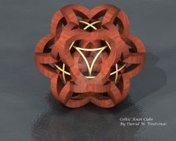 Celtic Knot Cube by anago-design