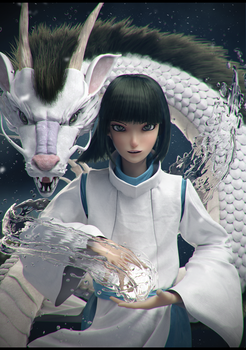 Haku Spirited Away by Graxious