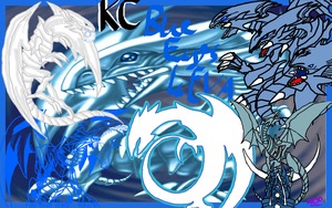 Blue-Eyes White Dragon Wallpaper by AESD