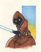Jawa Jedi by DarkstreamStudios
