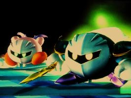 Kirby and Meta Knight by marioandsonic-14