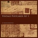 Vintage Postcards Set 1 by FidgetResources