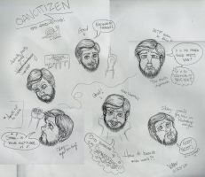 Oancitizen face sketches by VenGethenian
