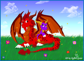 Ignitus and Spyro.. by Ag3nt-Sparx