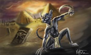 Sphynx the assassin Cat by Markdotea