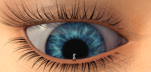 At eye level with a mega-giantess by UnseenHarbinger
