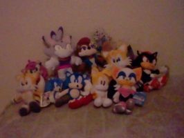 Sonic Plushies by mewmewspike