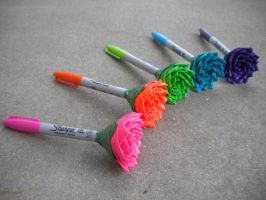 Duct Tape Flower Sharpies by SharpieObsessed