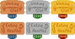 Badges for DudeLetsDiet by Ricsmond