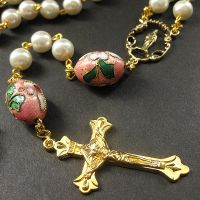 Cherry Blossom in Pink Rosary by Gilliauna