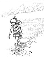 Pokemon World chapter cover lineart by The-Internationalist