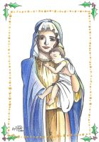 Virgin Mother and Child (Holiday Card Project) by ShenaniBOOM