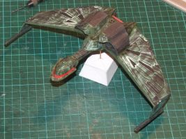 Cardboard Klingon Bird of Prey by marshon