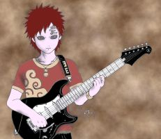 Gaara is a rocker kazekage xD by EgoTastikk