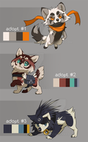 pups adoptable 3 - CLOSED by azzai