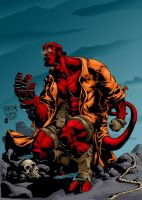 Hellboy Color by MAROK-ART