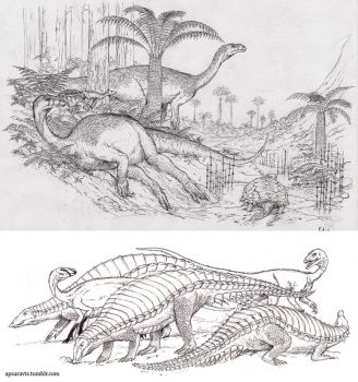 Triassic sketches by Apsaravis