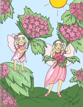 Fairy Sisters- Colored by hillary86